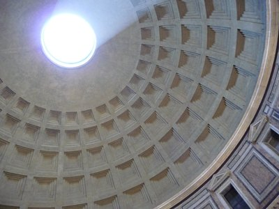 The perfect circle in the Dome of the Pantheon