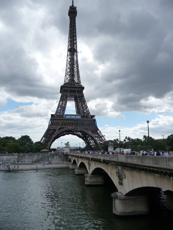 The Eiffel Tower from the River Sein