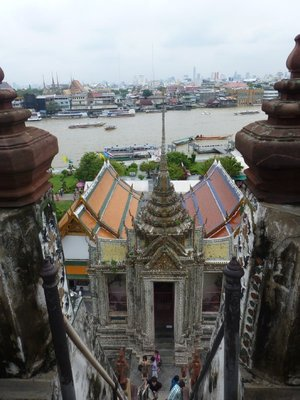 View from Wat Arun over Chao Phraya River