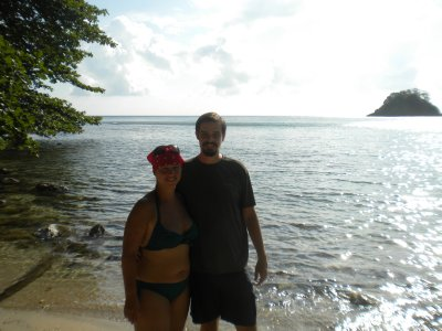 Beach outside Portobelo
