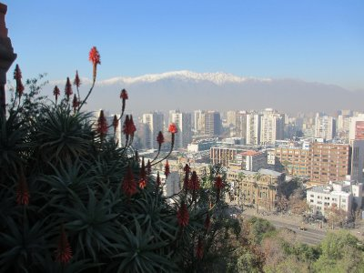 Santiago Skyline from San Cristobal Hill