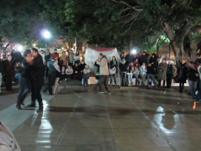 Tango Dancing on the Street in Buenos Aires