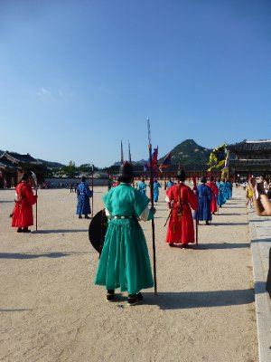 Changing of the guard at Gyeongbokung Palace