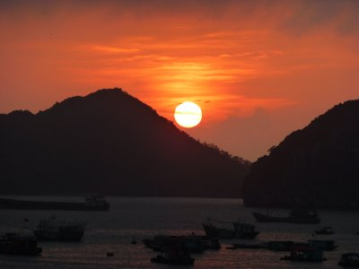 Sunset from Cat Ba Island