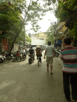 Walking the Streets of Hanoi