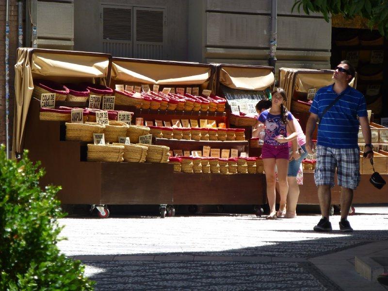 Spices and Tea for Sale in Granada