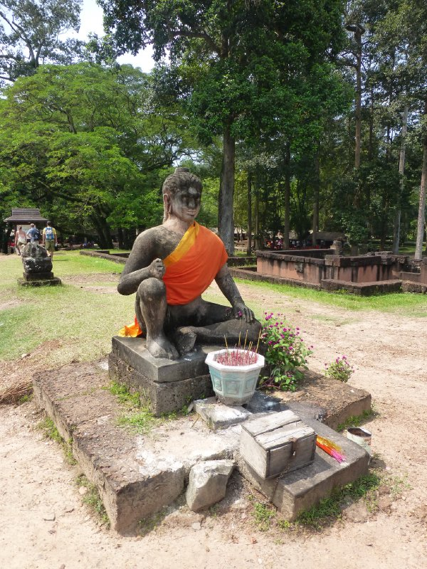 Leper King Statue at Angkor Park