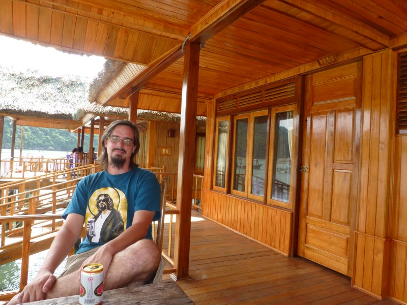 Enjoying our Bungalow on Nam Cat Island
