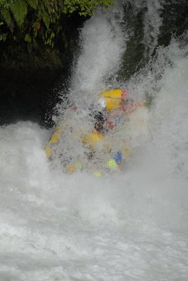 Rafting - on the way down!