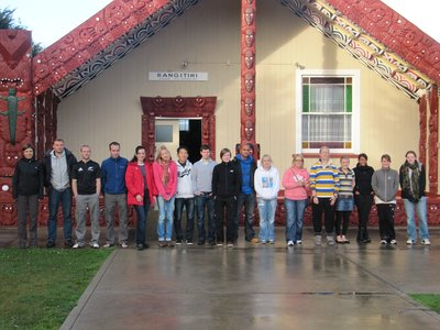 Group at the marae