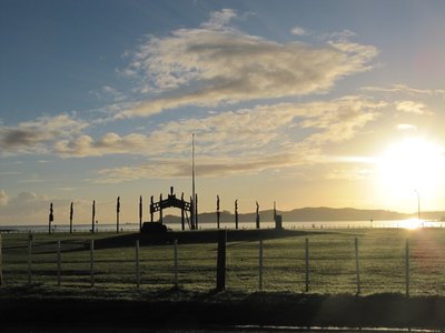 Maori arch at sunrise