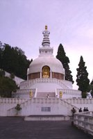 Peace Pagoda in Darjeeling