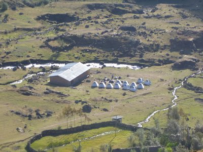 The campsite from the mountain above