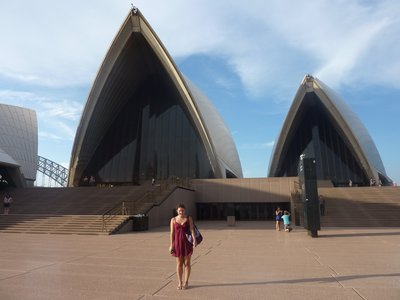 Sydney Opera House, en route to see Madame Butterfly