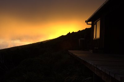 Sunrise at Pouakai Hut