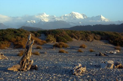 Southern Alps from Gillespies Beach