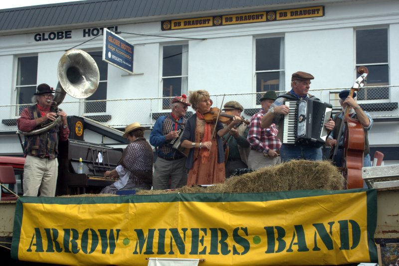 Arrowtown Miners Band in Riverton Parade