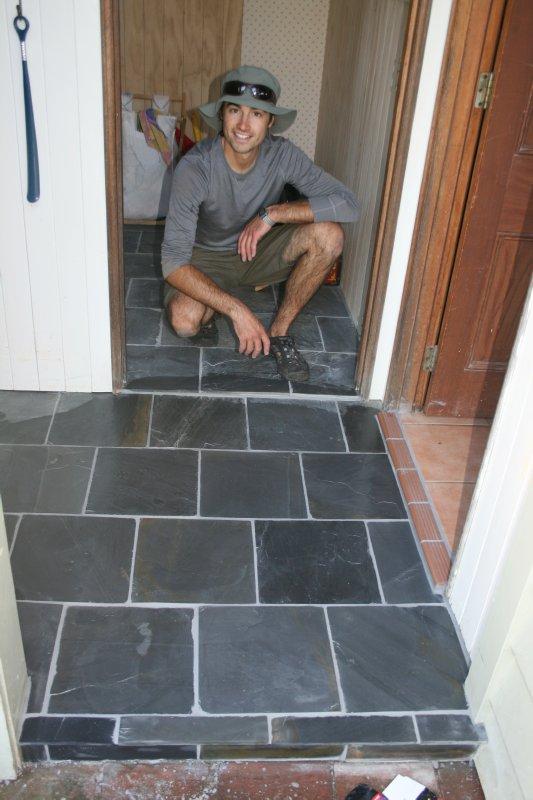 Wwoofing - Tile Work