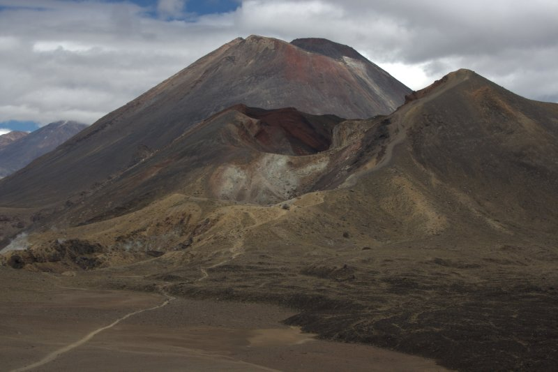 Red Crater in foreground and Mt. Ngauruhoe (Mt. Doom)  in background
