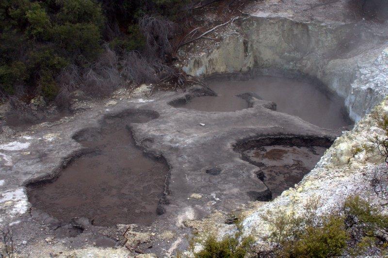 Devil's Ink Pots at Thermal Wonderland