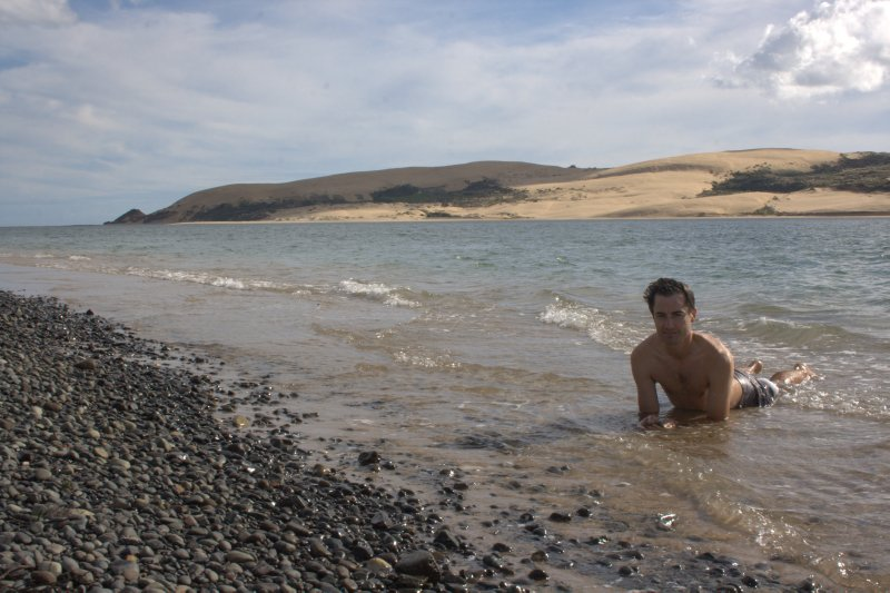 Swimming in Hokianga Harbour