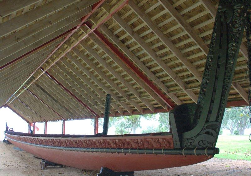 Waka Taua (Maori War Canoe made from Kauri)
