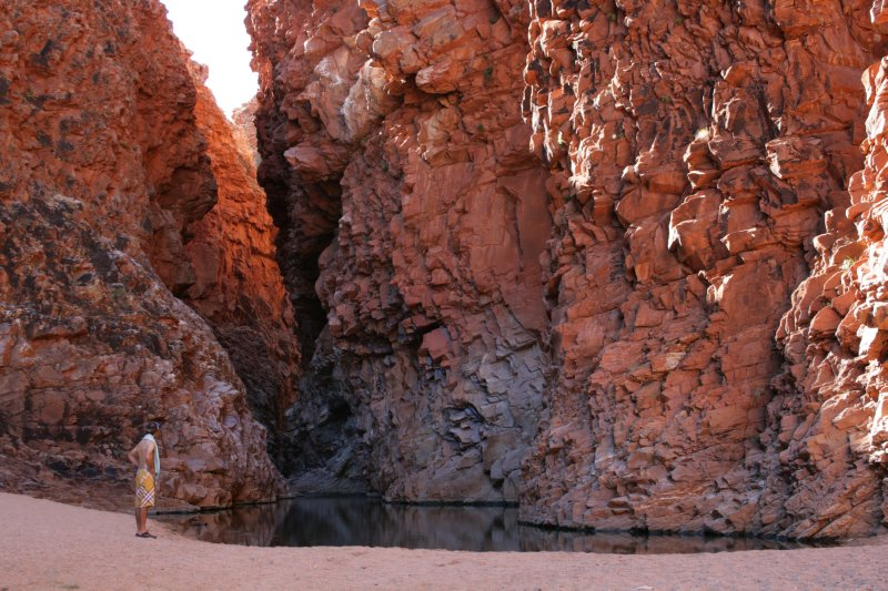 Seasonal Waterhole Drying Up in Redbank Gorge