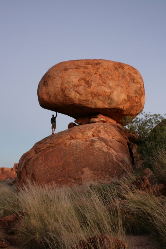 Working Out at The Devil's Marbles