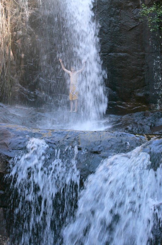 Playing in Robins Falls