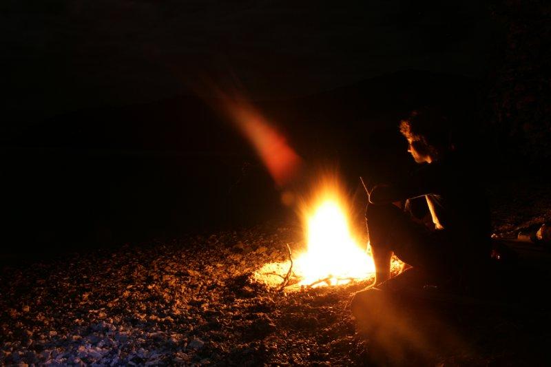 Beach Campfire at Swamp Bay