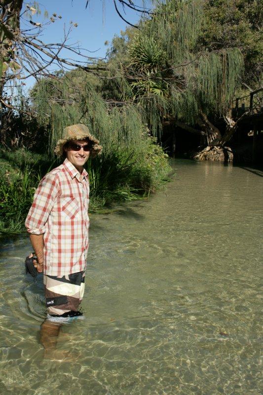 Nate Wading Through Eli Creek