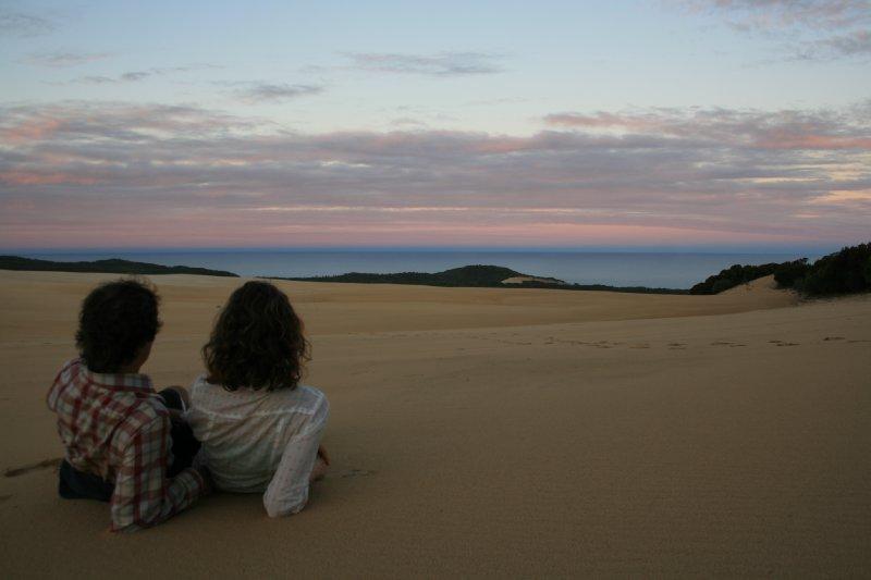 Sunset from Wungul Sandblow