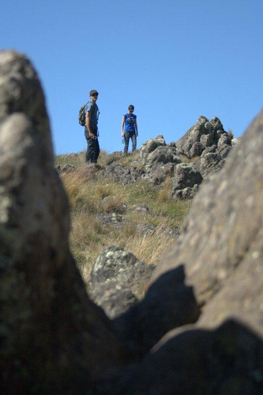 Nate and Brid Trekking Port Hills - Sugarloaf Trail
