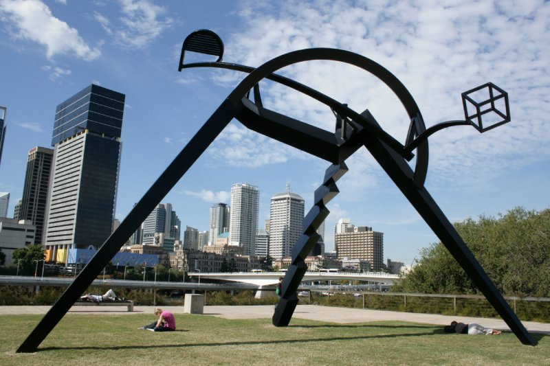 Art in front of Brissy Library