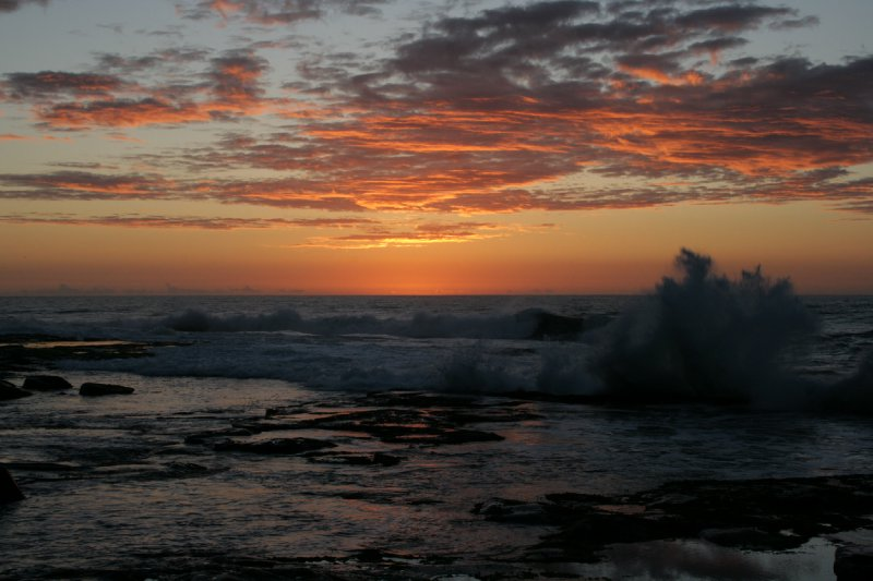 Sunrise and Smashing Wave at Iluka Nature Reserve