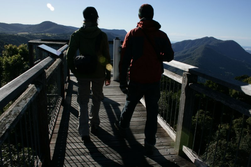 Us on The Skywalk at Dorrigo NP