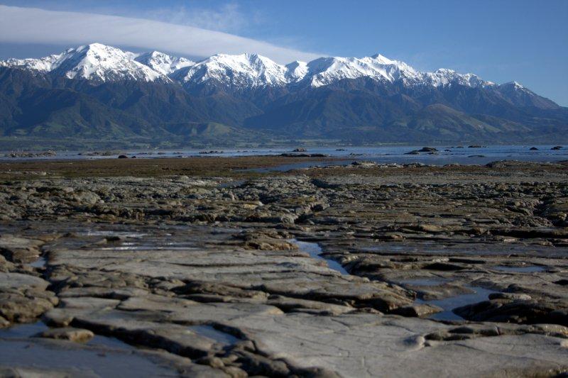 Seaward Kaikoua Range from Kaikoura Peninsula