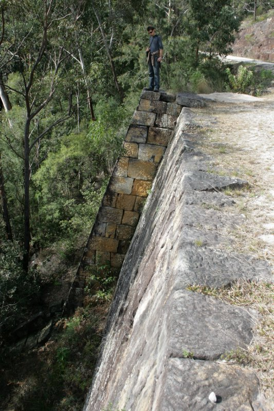 Sandstone Retaining Wall for Great Northern Road