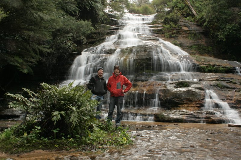 Matt and Nate at Katoomba Falls