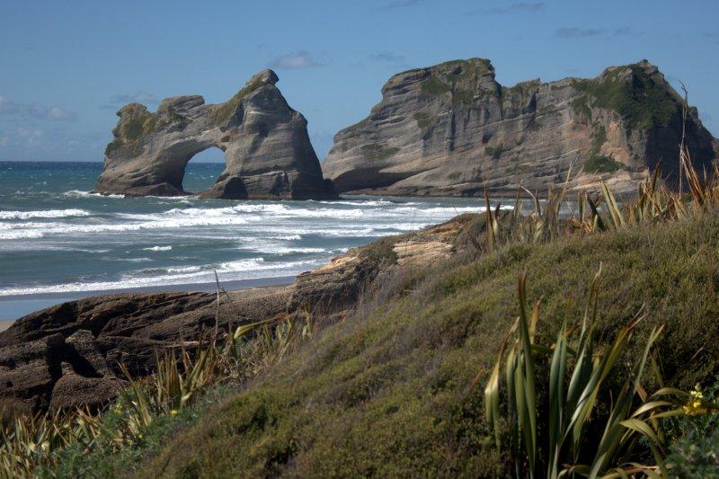 Wharariki Beach and Arch Islands