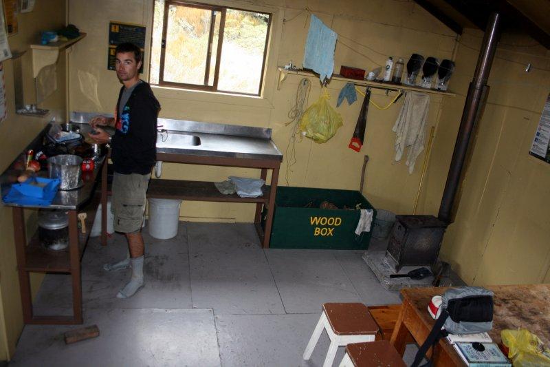 Cooking at Boulder Lake Hut