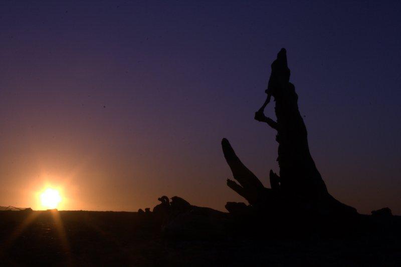 Sunset on Gillespies Beach
