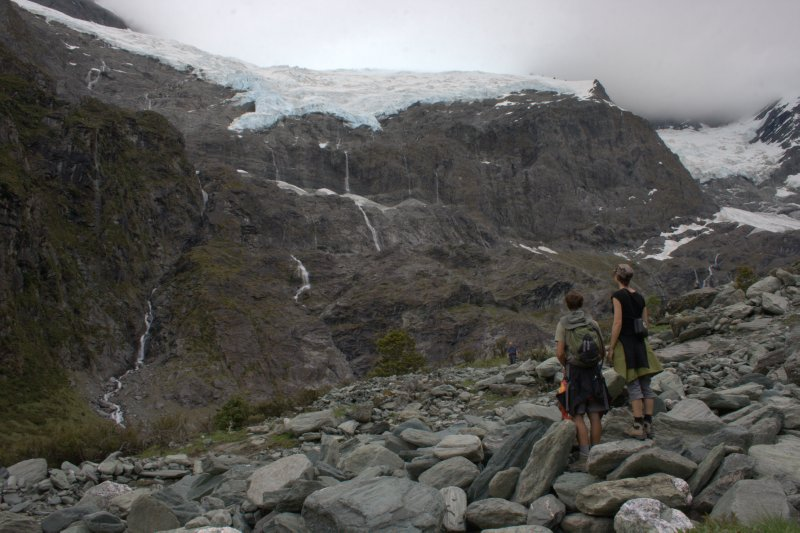 Nate and Julie at Rob Roy Glacier