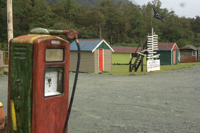 Oldest Working Gas Pump In NZ at Hollyford Camp