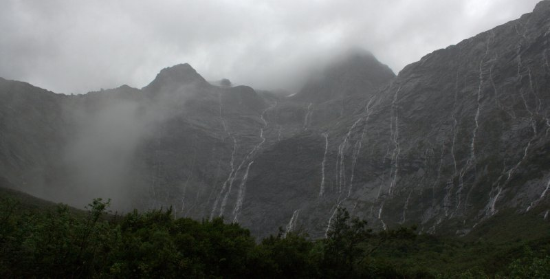 Waterfalls Along Milford Hwy