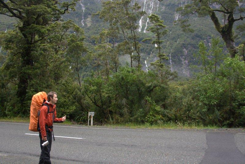 Hitching Back to Te Anau