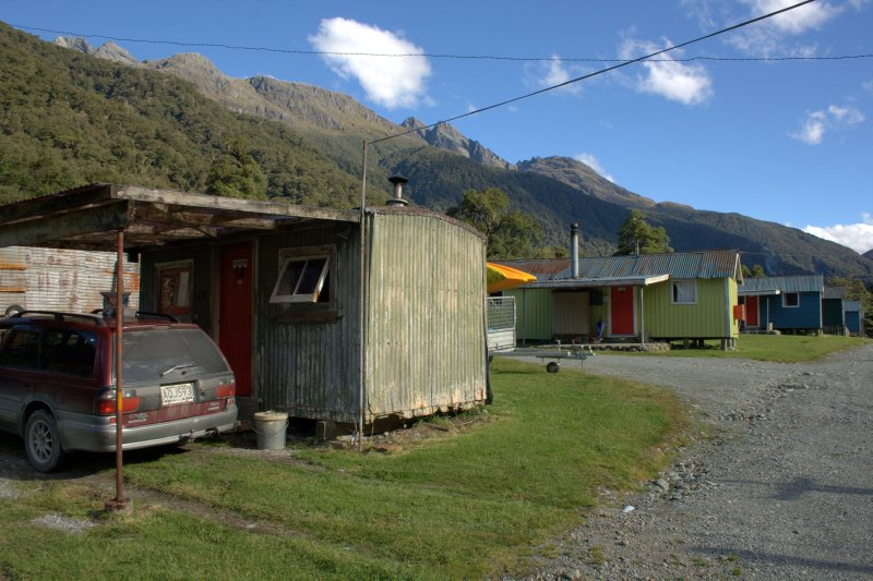 Pop's Hut at Hollyford Camp
