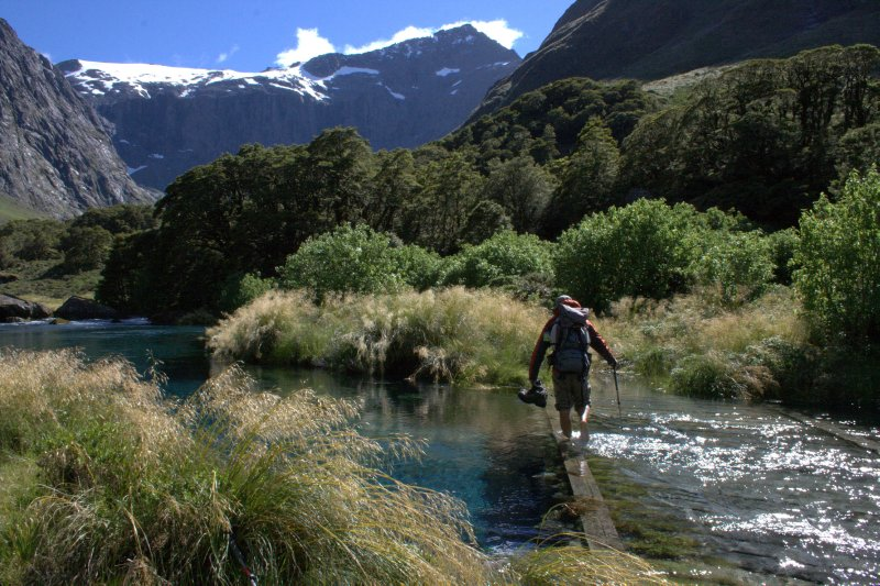 Crossing Hollyford River
