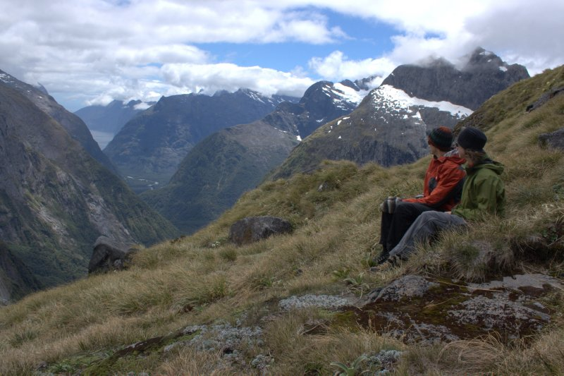 View of Milford Sound from Gertrude Saddle