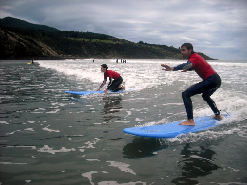 Surfing in Raglan